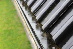 overflowing roof gutters